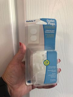 Safety first outlet plugs 24 pack. Porch Pick up Available. Staples Mill at 295.
