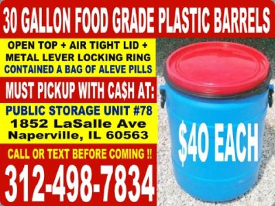 Heavy Duty Plastic Rain/ Storage Barrels