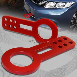 Purchase JDM Red Front Anodized Billet Aluminum Racing Towing Hook Tow Kit Universal 1 motorcycle in Walnut, California, United States