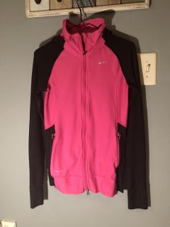 Nike Running Dri-Fit hooded zip up jacket in excellent condition. Size small