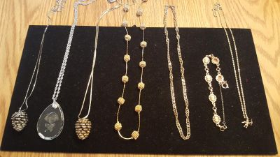 Gold and silver necklaces and bracelets