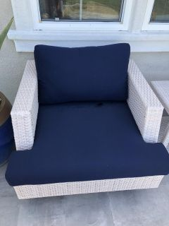 2 outdoor club chairs