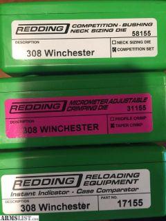 For Sale: REDDING 308 DIES & LAKE CITY BRASS