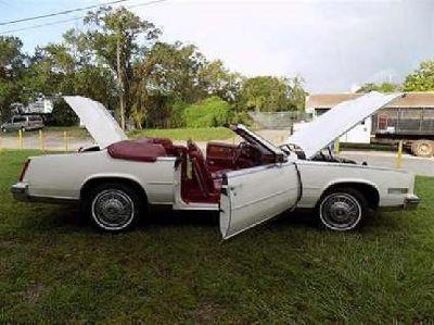 White Cadillac E l d o r a d o
