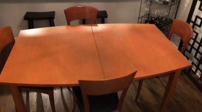 "Oblong 63"" Wood Dining Table - Extendable to 83"""