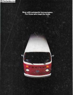 1973 8 Page Bus & Camper Sales Brochure