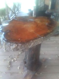 Home made red oak table