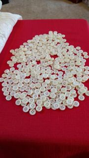 100's & 100's of Ivory Color Buttons