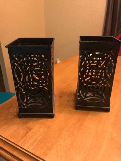Oil rubbed bronze candle holders
