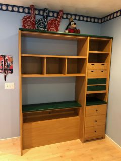 Bed and Bookcase/Headboard set