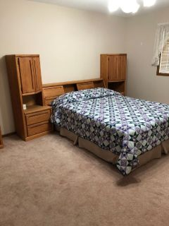 Queen Bed w/mattress and Dresser w/mirror and Tall Dresser