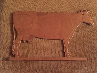 Wooden cow wall decoration
