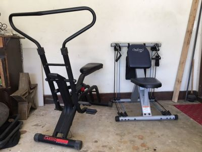 exercise bike and resistance trainer