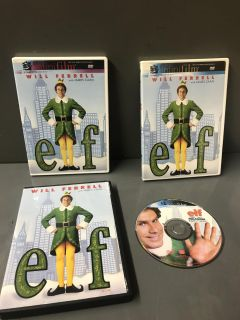 Elf with Will Ferrell. $5 each. Just like new. And one is french and english