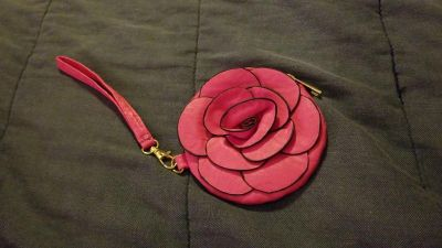 Rose, pink, coin purse