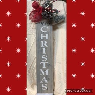Rustic Merry Christmas sign