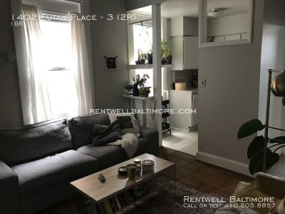 1402 Eutaw Place Apt. 3 | 1 bed 1 bath | Washer/Dryer | $1050