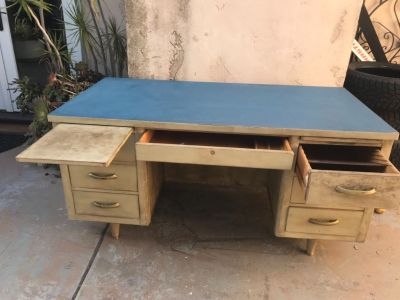 Office desk,solid wood ,5drawer,2 pull out desk top for lap top or writing,30x60x30