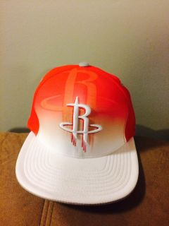 Houston Rockets Fitted Hat - Adidas NBA Authentic Team Flex Cap