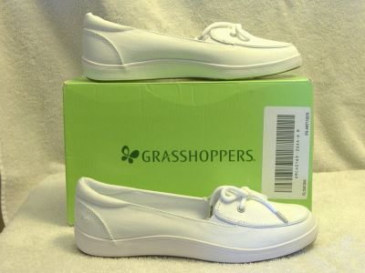 Women's HIGHVIEW WHITE CANVAS SHOES Grasshoppers Size 6