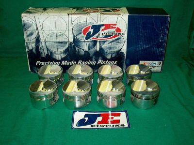 Purchase New JE 111714 Forged Dome Pistons BB Chevy 4.375 bore 4.250 stroke ross srp bbc motorcycle in High Ridge, Missouri, US, for US $669.00