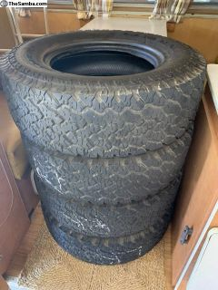 4 General Grabber AT2 27x8.50 14 tires used