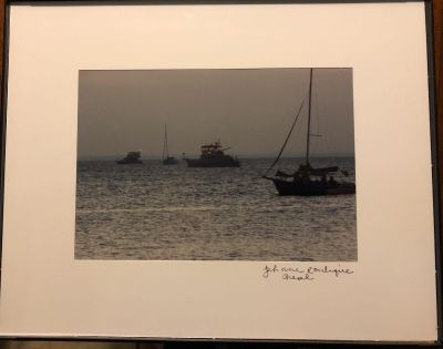Original photograph Boats in Mobile Bay