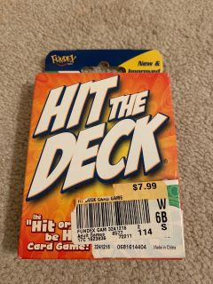 Hit the Deck card game- new
