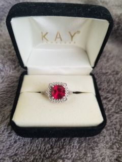 Ruby and diamond ring size 7