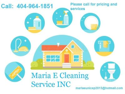 Maria E Cleaning Services INC. (404)964-1851
