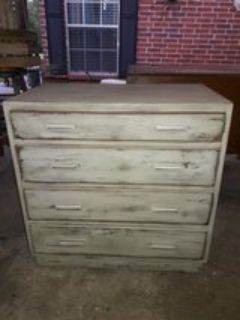 Vintage chest of drawer solid wood 4 drawer Shabby Chic