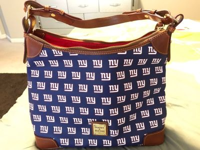 Authentic New York Giant Dooney and Bourke Hobo Purse