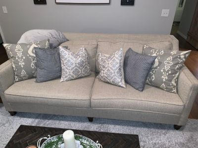 Mayo Couch and Custom Made to Match Chair