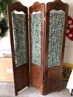 Wood Partition Room Divider Screen