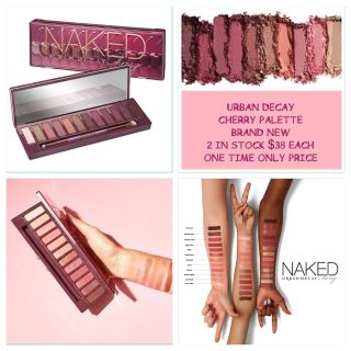 URBAN DECAY CHERRY PALETTE HAVE ONLY 2 PRICE IS FIRM ABSOLUTELY NO HOLDS WITHOUT PREPAYMENT