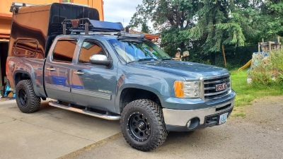 2012 gmc sierra,off grid solar tiny house 4x4