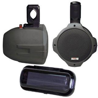 "Buy Pyle Marine PLMRB65 6.5"" 2-Way Black Wake Board Speakers Radio Shield Gasket motorcycle in Nixa, Missouri, United States, for US $121.28"