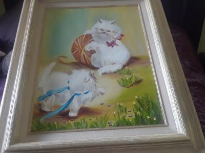 Vintage Hand Painted Oil Painting