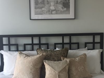 Open Frame King Size Wood Headboard