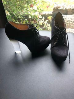 Black suede like heels