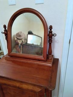 Tombstone cheval mirror