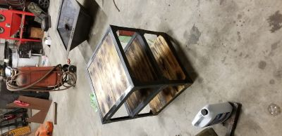 Hand built end table