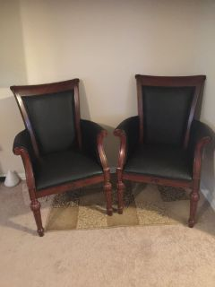 DMI Dark Blue Executive Chairs (2)