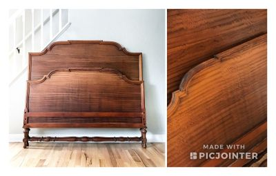 Antique Solid Wood FULL Bed (circa 1910)