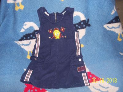 Size 7/8 Tweety bird dress zip up back