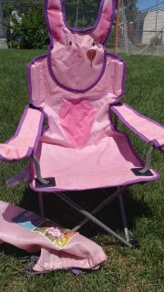 Pink Bunny child sized Camp chair.
