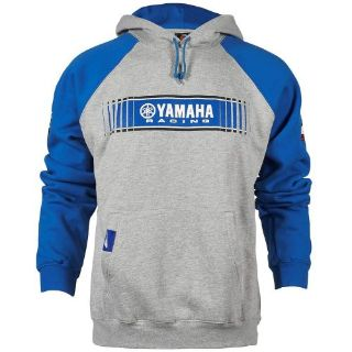 Sell YAMAHA SMALL GREY/BLUE MENS TRACKS SPEED BLOCK HOODED SWEATSHIRT CRP-16FTT-BL-SM motorcycle in Maumee, Ohio, United States, for US $44.99