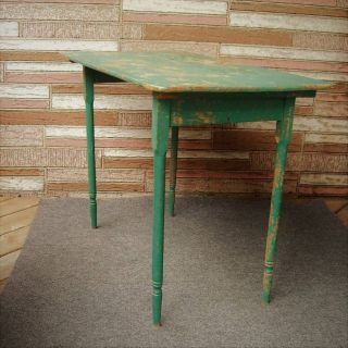 Vintage Folding Wood Table Collapsible Farmhouse