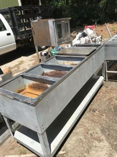 Stainless steel steam table