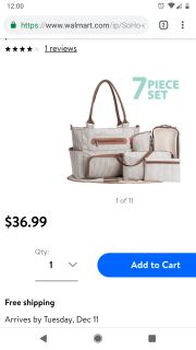 Diaper bag and accessories